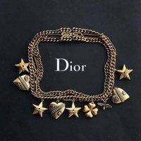 corrente de latão china venda por atacado-Designer de luxo jóias mulheres colar verão está chegando latão banhado a ouro 18k colar cubano elo da cadeia