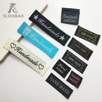 Wholesale clothing labels for sale - SLOOBAO Hand made woven Labels Clothing Shoes Bags Woven Labels Washable Cotton Garment Tags DIY tags