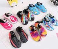aqua yoga achat en gros de-Natation Eau Aqua Chaussures Hommes Femmes Plage Camping Chaussures Adulte Unisexe Aqua Plat Doux Marcher Amant Yoga Chaussures Baskets Antidérapantes
