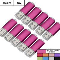 ordinateur portable rose 8gb achat en gros de-Rose en vrac 200 PCS 8 Go USB 2.0 Flash Drive Rectangle Pouce pour lecteur de clé Mémoire Flash Stockage pour ordinateur portable Tablet Macbook U Disk
