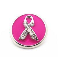 о компании оптовых-2019 новый серебряный Snap ювелирные изделия Eanmel рак молочной железы осведомленности ленты Кристалл Snap кнопка Fit 18 мм Оснастки браслет DIY подвески