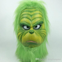 ingrosso divertente volto maschera natale-Green Monster Grinch Drift Mask Articoli per feste per costumi di Natale Accessori Cosplay Copricapo Maschera per il viso oggetti di scena divertenti per prestazioni WN666