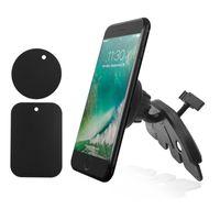 поворотные стойки оптовых-Вращающийся на 360 градусов CD-слот Магнитный автомобильный держатель для мобильного телефона Подставка для мобильного телефона iPhone XS Max X 8 7 Plus Samsung Huawei