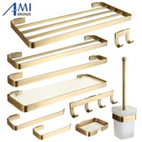 Wholesale antique towel hooks for sale - Group buy FZ Series Antique Brushed Brass Bathroom Accessories Bath Hardware Towel Bar Paper Holder Cloth Hook Soap Dish A SH190919