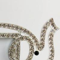 marcos de temas al por mayor-Elefante de plata Marco de fotos Marco de fotos con diamantes de imitación transparente Tema de animales Marco de fotos decorativo 200 piezas DHL