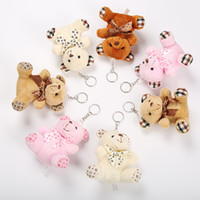 Wholesale plush keychain toy bear for sale - Group buy Teddy Bear Plush Dolls doll keychain Key chain ring Baby Girls Toys Birthday Party Decoration christmas gift keychains keyring