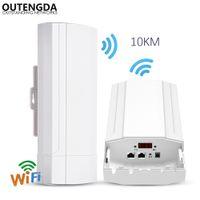 extensão do repetidor do roteador da gama wifi venda por atacado-900 Mbps 5G Ao Ar Livre CPE Router Faixa PTP 10KM Ponto de Acesso Wi-fi WDS Sem Fio Wi-fi Extensor Ponte Wi-fi Repetidor Para Câmera IP