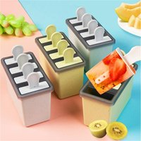 gummiformfolien groihandel-Gefrorene Eiswürfelformen Double Layer Eis Tubs Eis-Behälter-Form mit Sticks Ungiftiger Popsicle Makers Partei Kitchen Bar