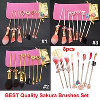 Wholesale magical eyebrow for sale - Group buy Best Quality Cardcaptor Sakura Makeup Brushes set Magical Girl Metallic Wand Makeup Brush Set for Face Eyes Eyebrow and Lips