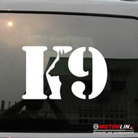 vinil arka plan çıkartması toptan satış-K9 K-9 Ünitesi Köpek Decal Sticker Araba Vinil seçim boyutu renk die cut hiçbir arka plan