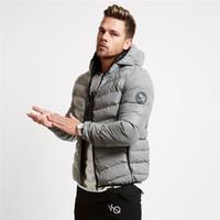 Wholesale mens acrylic winter jacket resale online - 2020 New Men s New Winter Warm Cotton Padded Men s Thermal Hat Zipper Jacket Men s Short Cotton Padded Clothes Mens Designer Winter Coats