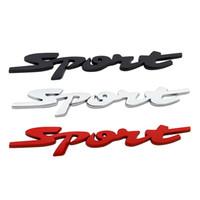 spor dekorasyonları toptan satış-3D Metal Araba Çıkartmaları Spor Dekorasyon Aksesuarları Evrensel Araba Modifikasyon Amblemler Rozetleri Çıkartmaları Oto Styling Sticker HHA98