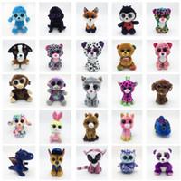 Wholesale ty toys online - Ty Beanie Boos Plush Toys Big Eyes Stuffed doll Animals Panda Unicorn Raccoon Multiple styles mx f1