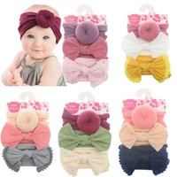 Wholesale plastic accessories for sale - Group buy Baby Girls Knot Ball Donut Headbands Bow Turban set Infant Elastic Hairbands Children Knot Headwear kids Hair Accessories C5762