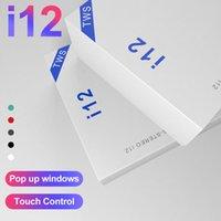 bluetooth mini universal venda por atacado-I12 TWS Earbuds Mini fone de ouvido sem fio para iPhone Android com caixa de carregamento Bluetooth 5.0 Fones de ouvido PK I11 I9S I18 I10 com caixa de varejo