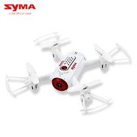 aplicación de juguetes controlados al por mayor-Syma X22W Wifi FPV Pocket RC Drone Cámara HD FPV Wifi Modo sin cabeza RC Juguetes Vuelo y plan App Control Dron Quadcopter blanco