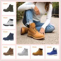 Wholesale sports heels for sale - Group buy Men Women Waterproof Outdoor Boots Casual Martin Boots Hiking Sports Shoes Brand Couples Genuine Leather Warm Snow Boots High Cut Winter