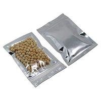 verpackung plastikbeutel klein großhandel-100 stücke viel Packung Wiederverschließbare Mylar Taschen-Geruchssichere Beutel Aluminiumfolie Verpackung Plastiktüte Lebensmittelecht Kleine Mylar Aufbewahrungsbeutel 3x5 zoll