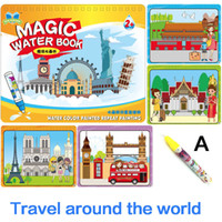 Wholesale toy sets for sale - Group buy 4 Style Children s Puzzle Water Album Magic Water Book Album Graffiti Baby Painting Kindergarten Drawing Board Toys