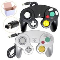 joypad joypad gamepad venda por atacado-Clássico Wired Controller Joypad Joystick Gamepad Para Por GameCube Wii Vibration Gameing