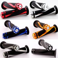Wholesale motorcycle gel hand grips handlebar for sale - Group buy Universal Motorbike Hand Grips quot Motorcycle CNC Machined Aluminum Handlebar None Slip Gel Rubber Handle Moto Accessories