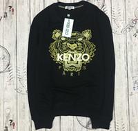 ingrosso maglioni di marca migliori-commercio all'ingrosso la migliore qualità K * Z * marca Prais ricamato tigre testa logo maglione o-collo pullover di Terry sweatershirt jimpers originale