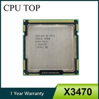 intel core i7 de escritorio de la cpu al por mayor-Procesador Intel Xeon X3470 8M Cache 2,93 GHz SLBJH LGA1156 CPU igual i7 870 de trabajo 100%