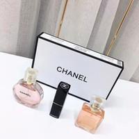 dames parfums achat en gros de-Marque de maquillage de Collection Matte Lipstick 15ml Parfum 3 en 1 Kit cosmétique avec boîte-cadeau Cadeaux Femmes Lady Parfums 101630