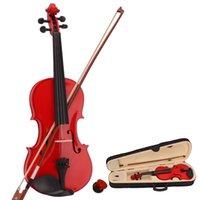 foco musical venda por atacado-Novo 4/4 Natural Acústico Violino Caso Arco Rosin para Violino Iniciante Acústico Violino Caso Arco Rosin Red Ship dos EUA levar 7 Dias