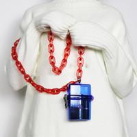 ingrosso trasparente acrilico trasparente-Catene acriliche trasparenti Borse a tracolla da donna Mini piccole donne del portafoglio delle donne degli uomini dell'ABS Trasparente Femmine Borsa Messenger Bag Moda