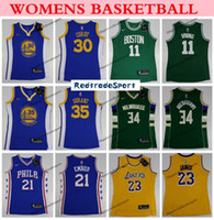 Wholesale women jersey 23 resale online - Womens Warrior Stephen Curry Laker LeBron James Los Angeles ers Joel Embiid Ladies Bucks Giannis Antetokounmpo Basketball Jersey