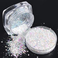 1g Hot Glitter Powder Nail Art Sequin 3d Slice Rainbow Clear Hexagon Flakes Diy Charm Nail Art Decor Tips Trt01-04