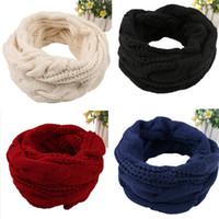 бесконечность шарф зима оптовых-New Arrive Men Women's Nice Winter Warm Infinity 2Circle Cable Knit Cowl Neck Long Scarf Shawl