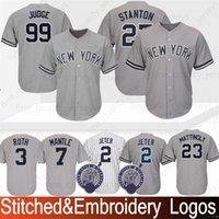 1a29940f Stitched 99 Aaron Judge New York Jersey Yankees 3 Babe Ruth 23 Don  Mattingly 7 Mickey Mantle 42 Mariano Rivera Baseball Jerseys