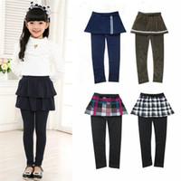 Wholesale skirt pants for kids for sale - Group buy girl legging Girls Cake Skirt pants girl baby pants kids leggings Skirt pants Leggings for girls Cake skirt in stock