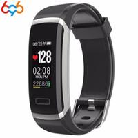 ingrosso tracker c-696 GT101 Fitness Tracker Orologio TFT a colori Smart Wristband Smart Bracelet Fitness Tracker Monitor a frequenza cardiaca a schermo OLED C