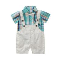 Brace Shorts Outfits Party Gentlemen Clothes UK Kids Baby Boys Bowknot T Shirt