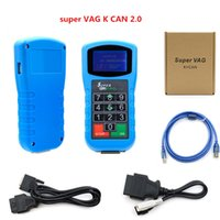 Wholesale audi pin code reader resale online - 2019 Super VAG K CAN plus newest Diagnosis tool for Mileage Correction and Pin Code Reader and Key Programmer Airbag Reset