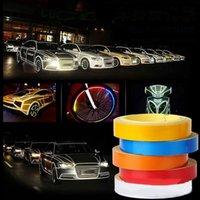 забавный автомобиль предупреждающие наклейки оптовых-Светоотражающие ленты автомобиля Смешные Декаль DIY света Световой Предупреждение безопасности Glow Dark Night Tapes наклейки