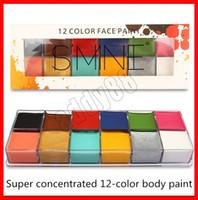 herramientas para pintar arte al por mayor-12 colores Flash Tattoo Face Body Paint Oil Painting Art Halloween Party Fancy Dress Drama Beauty Makeup Tool