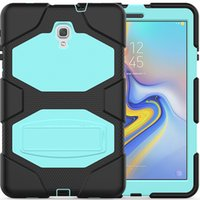 Wholesale samsung galaxy tab a 10.5 case for sale - Group buy Drop Resistance Silicone Hybrid Case Back Cover with Kickstand for Samsung Galaxy Tab A T597 T590 T595 Tablet