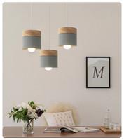 Wholesale oaks hotel for sale - Group buy Nordic Creative Restaurant Pendant Light Colour Dining Room Lamp Modern Simple Solid Wood Living Room Pendant Ligh Bar Oak light