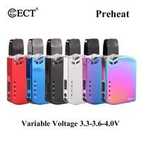 elektronische zigarettenflüssigkeitssätze großhandel-Original ECT Robin Kit 420mAh Batterie einstellbar 3.3V-3.6V-4.0V Vorheizen Pod Kit Elektronische Zigarette Vape Mod für dickes Öl oder E-Liquid