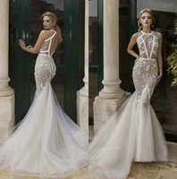 Wholesale garden party dresses for sale - Illusion D Floral Appliques Plus Size Mermaid Party Wedding Dresses Robe De Mariee Backless Bridal Dress Vestido De Novia