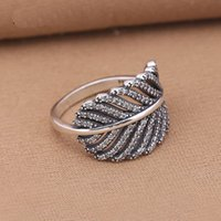 Wholesale ring feathers for sale - Group buy Authentic Sterling Silver Rings Light As A Feather Clear Cz Wedding Ring Fashion Jewelry Compatible With European T190624