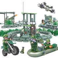 armée de jouets de briques achat en gros de-Camouflage Armée Mini Toy Figure Armé Troop Jungle Commandos amphibie Special Forces Modèle militaire moderne blocs de construction Guerre Brique