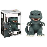 Wholesale toys godzilla resale online - Q Version Creative POP Godzilla Gojira Dinosaur Kaiju Birthday Gift Art Craft Exquisite PVC Action Collectible Model Toy CM BOX G513