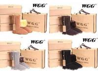botas de couro lisas altas venda por atacado-Botas de neve alta das Mulheres Clássicas botas das Mulheres de Inicialização Botas de neve bota de Inverno botas de couro de transporte da gota sapatos baixos