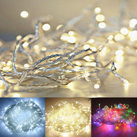 Wholesale purple color curtains for sale - Group buy DHL A Battery m LED String Mini Fairy Lights Battery Power Operated Pure Cold Warm white Blue Red Green Pink Purply multi color