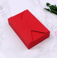 ingrosso sapone rosso bianco-20pcs 19,5 * 12,5 * 4 cm di carta rossa confezioni regalo scatole di sapone bianco scatola di carta marrone bianco caramelle di nozze scatola di immagazzinaggio di cottura diy